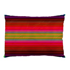 Fiestal Stripe Bright Colorful Neon Stripes Background Pillow Case (Two Sides)