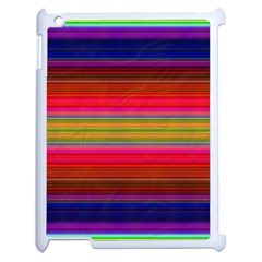 Fiestal Stripe Bright Colorful Neon Stripes Background Apple iPad 2 Case (White)