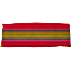 Fiestal Stripe Bright Colorful Neon Stripes Background Body Pillow Case Dakimakura (Two Sides)