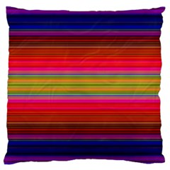 Fiestal Stripe Bright Colorful Neon Stripes Background Large Cushion Case (One Side)