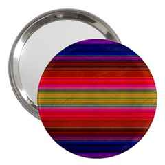 Fiestal Stripe Bright Colorful Neon Stripes Background 3  Handbag Mirrors