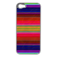 Fiestal Stripe Bright Colorful Neon Stripes Background Apple iPhone 5 Case (Silver)