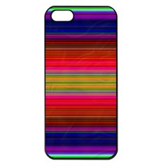 Fiestal Stripe Bright Colorful Neon Stripes Background Apple iPhone 5 Seamless Case (Black)