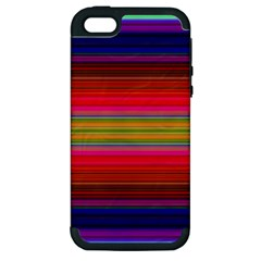 Fiestal Stripe Bright Colorful Neon Stripes Background Apple iPhone 5 Hardshell Case (PC+Silicone)
