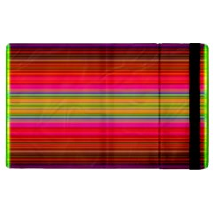 Fiestal Stripe Bright Colorful Neon Stripes Background Apple iPad 2 Flip Case