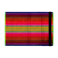 Fiestal Stripe Bright Colorful Neon Stripes Background Apple Ipad Mini Flip Case