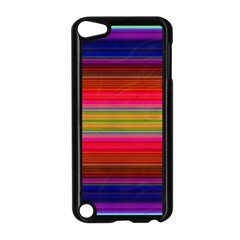 Fiestal Stripe Bright Colorful Neon Stripes Background Apple iPod Touch 5 Case (Black)