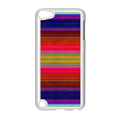 Fiestal Stripe Bright Colorful Neon Stripes Background Apple iPod Touch 5 Case (White)