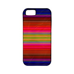 Fiestal Stripe Bright Colorful Neon Stripes Background Apple Iphone 5 Classic Hardshell Case (pc+silicone)