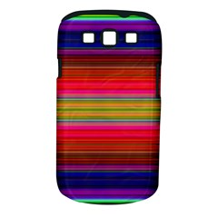 Fiestal Stripe Bright Colorful Neon Stripes Background Samsung Galaxy S III Classic Hardshell Case (PC+Silicone)