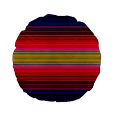 Fiestal Stripe Bright Colorful Neon Stripes Background Standard 15  Premium Round Cushions