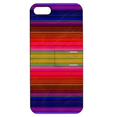 Fiestal Stripe Bright Colorful Neon Stripes Background Apple iPhone 5 Hardshell Case with Stand