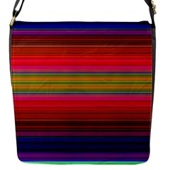 Fiestal Stripe Bright Colorful Neon Stripes Background Flap Messenger Bag (S)