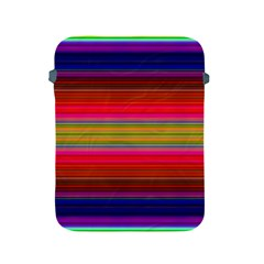 Fiestal Stripe Bright Colorful Neon Stripes Background Apple iPad 2/3/4 Protective Soft Cases