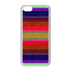 Fiestal Stripe Bright Colorful Neon Stripes Background Apple iPhone 5C Seamless Case (White)