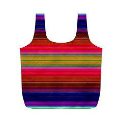 Fiestal Stripe Bright Colorful Neon Stripes Background Full Print Recycle Bags (M)
