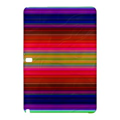 Fiestal Stripe Bright Colorful Neon Stripes Background Samsung Galaxy Tab Pro 10.1 Hardshell Case