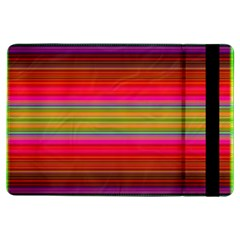 Fiestal Stripe Bright Colorful Neon Stripes Background iPad Air Flip
