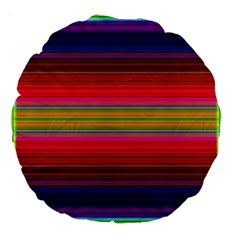 Fiestal Stripe Bright Colorful Neon Stripes Background Large 18  Premium Flano Round Cushions