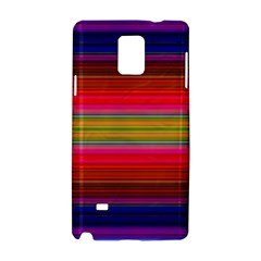Fiestal Stripe Bright Colorful Neon Stripes Background Samsung Galaxy Note 4 Hardshell Case