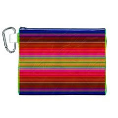 Fiestal Stripe Bright Colorful Neon Stripes Background Canvas Cosmetic Bag (XL)