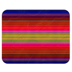 Fiestal Stripe Bright Colorful Neon Stripes Background Double Sided Flano Blanket (Medium)