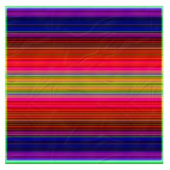 Fiestal Stripe Bright Colorful Neon Stripes Background Large Satin Scarf (Square)