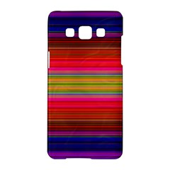 Fiestal Stripe Bright Colorful Neon Stripes Background Samsung Galaxy A5 Hardshell Case