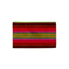 Fiestal Stripe Bright Colorful Neon Stripes Background Cosmetic Bag (xs)