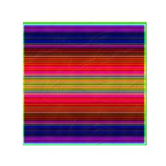 Fiestal Stripe Bright Colorful Neon Stripes Background Small Satin Scarf (Square)