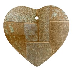 Texture Of Ceramic Tile Ornament (heart)