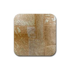 Texture Of Ceramic Tile Rubber Square Coaster (4 pack)
