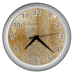 Texture Of Ceramic Tile Wall Clocks (silver)