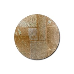 Texture Of Ceramic Tile Rubber Round Coaster (4 pack)