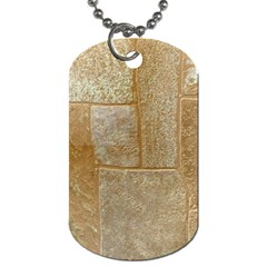 Texture Of Ceramic Tile Dog Tag (One Side)