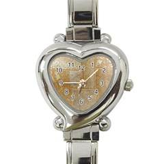 Texture Of Ceramic Tile Heart Italian Charm Watch