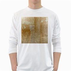 Texture Of Ceramic Tile White Long Sleeve T-Shirts