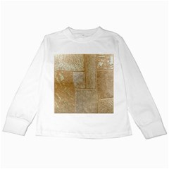Texture Of Ceramic Tile Kids Long Sleeve T Shirts