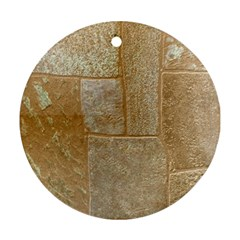 Texture Of Ceramic Tile Round Ornament (Two Sides)