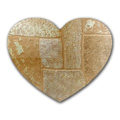 Texture Of Ceramic Tile Heart Mousepads