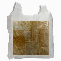 Texture Of Ceramic Tile Recycle Bag (two Side)