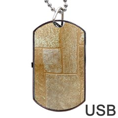 Texture Of Ceramic Tile Dog Tag Usb Flash (one Side)