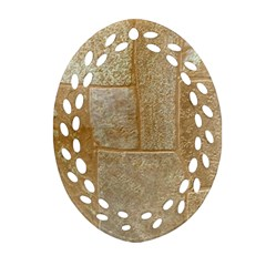 Texture Of Ceramic Tile Oval Filigree Ornament (two Sides)
