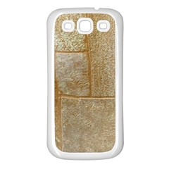 Texture Of Ceramic Tile Samsung Galaxy S3 Back Case (White)