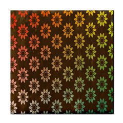 Grunge Brown Flower Background Pattern Tile Coasters