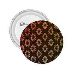 Grunge Brown Flower Background Pattern 2 25  Buttons