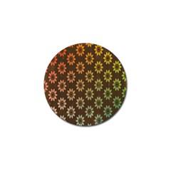 Grunge Brown Flower Background Pattern Golf Ball Marker (4 Pack)