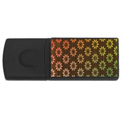 Grunge Brown Flower Background Pattern USB Flash Drive Rectangular (1 GB)