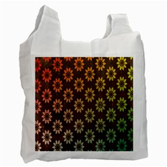 Grunge Brown Flower Background Pattern Recycle Bag (one Side)