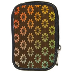 Grunge Brown Flower Background Pattern Compact Camera Cases